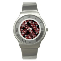 Weave And Knit Pattern Seamless Stainless Steel Watch