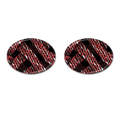 Weave And Knit Pattern Seamless Cufflinks (Oval)