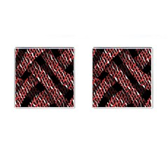 Weave And Knit Pattern Seamless Cufflinks (Square)