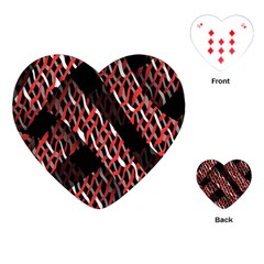 Weave And Knit Pattern Seamless Playing Cards (Heart)