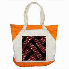 Weave And Knit Pattern Seamless Accent Tote Bag