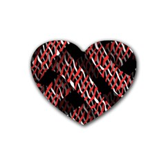 Weave And Knit Pattern Seamless Rubber Coaster (Heart)