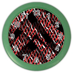 Weave And Knit Pattern Seamless Color Wall Clocks