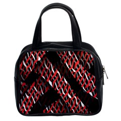Weave And Knit Pattern Seamless Classic Handbags (2 Sides)