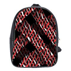 Weave And Knit Pattern Seamless School Bags(Large)