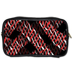 Weave And Knit Pattern Seamless Toiletries Bags 2 Side