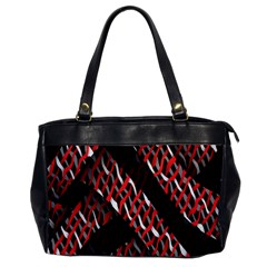 Weave And Knit Pattern Seamless Office Handbags
