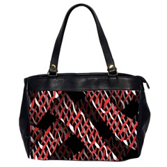 Weave And Knit Pattern Seamless Office Handbags (2 Sides)