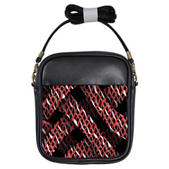 Weave And Knit Pattern Seamless Girls Sling Bags