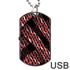 Weave And Knit Pattern Seamless Dog Tag Usb Flash (one Side)