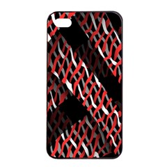 Weave And Knit Pattern Seamless Apple iPhone 4/4s Seamless Case (Black)