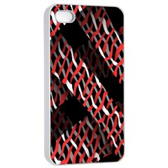 Weave And Knit Pattern Seamless Apple iPhone 4/4s Seamless Case (White)