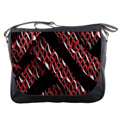 Weave And Knit Pattern Seamless Messenger Bags
