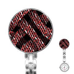 Weave And Knit Pattern Seamless Stainless Steel Nurses Watch