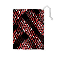 Weave And Knit Pattern Seamless Drawstring Pouches (large)