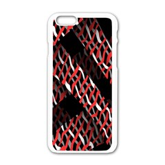 Weave And Knit Pattern Seamless Apple Iphone 6/6s White Enamel Case
