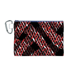 Weave And Knit Pattern Seamless Canvas Cosmetic Bag (M)