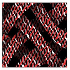 Weave And Knit Pattern Seamless Large Satin Scarf (square)