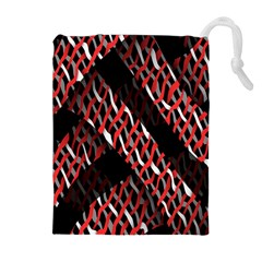 Weave And Knit Pattern Seamless Drawstring Pouches (Extra Large)