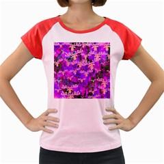 Watercolour Paint Dripping Ink Women s Cap Sleeve T-Shirt