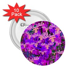 Watercolour Paint Dripping Ink 2.25  Buttons (10 pack)