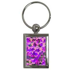 Watercolour Paint Dripping Ink Key Chains (Rectangle)