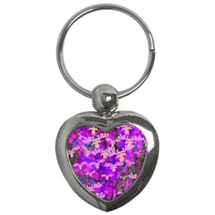 Watercolour Paint Dripping Ink Key Chains (heart)