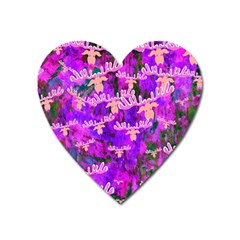 Watercolour Paint Dripping Ink Heart Magnet
