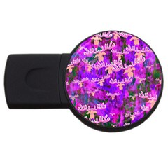 Watercolour Paint Dripping Ink USB Flash Drive Round (2 GB)