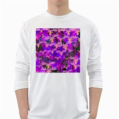 Watercolour Paint Dripping Ink White Long Sleeve T-Shirts