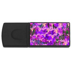 Watercolour Paint Dripping Ink Usb Flash Drive Rectangular (4 Gb)