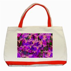 Watercolour Paint Dripping Ink Classic Tote Bag (Red)