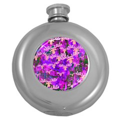 Watercolour Paint Dripping Ink Round Hip Flask (5 oz)