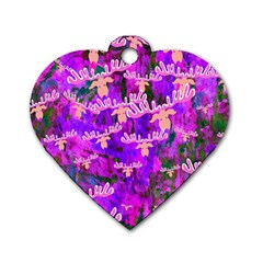 Watercolour Paint Dripping Ink Dog Tag Heart (two Sides)