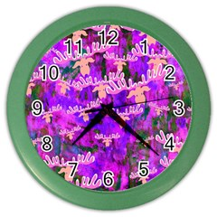 Watercolour Paint Dripping Ink Color Wall Clocks