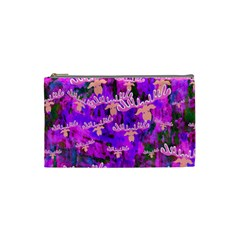 Watercolour Paint Dripping Ink Cosmetic Bag (small)