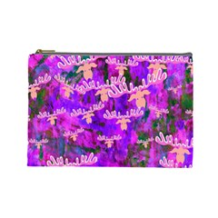 Watercolour Paint Dripping Ink Cosmetic Bag (Large)