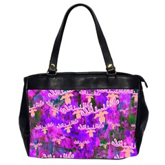 Watercolour Paint Dripping Ink Office Handbags (2 Sides)