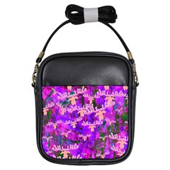 Watercolour Paint Dripping Ink Girls Sling Bags