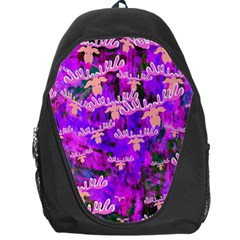 Watercolour Paint Dripping Ink Backpack Bag