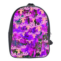Watercolour Paint Dripping Ink School Bags (xl)
