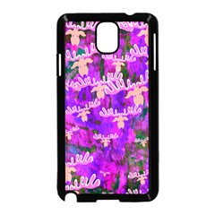 Watercolour Paint Dripping Ink Samsung Galaxy Note 3 Neo Hardshell Case (black)