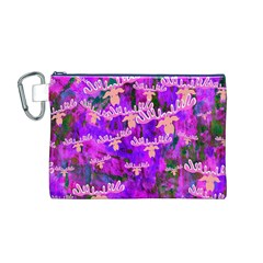 Watercolour Paint Dripping Ink Canvas Cosmetic Bag (m)