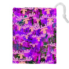Watercolour Paint Dripping Ink Drawstring Pouches (xxl)