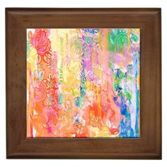 Watercolour Watercolor Paint Ink Framed Tiles