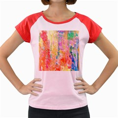 Watercolour Watercolor Paint Ink Women s Cap Sleeve T-Shirt
