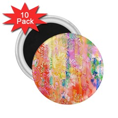 Watercolour Watercolor Paint Ink 2 25  Magnets (10 Pack)