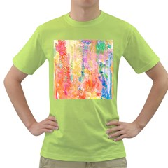 Watercolour Watercolor Paint Ink Green T-Shirt