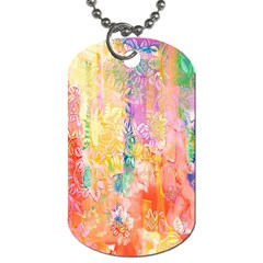 Watercolour Watercolor Paint Ink Dog Tag (one Side)