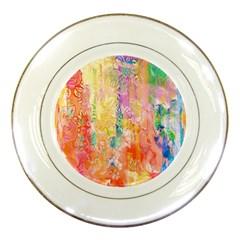 Watercolour Watercolor Paint Ink Porcelain Plates